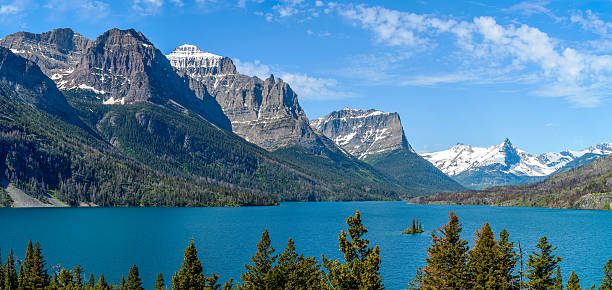 saint mary lake - st. mary lake stock pictures, royalty-free photos & images