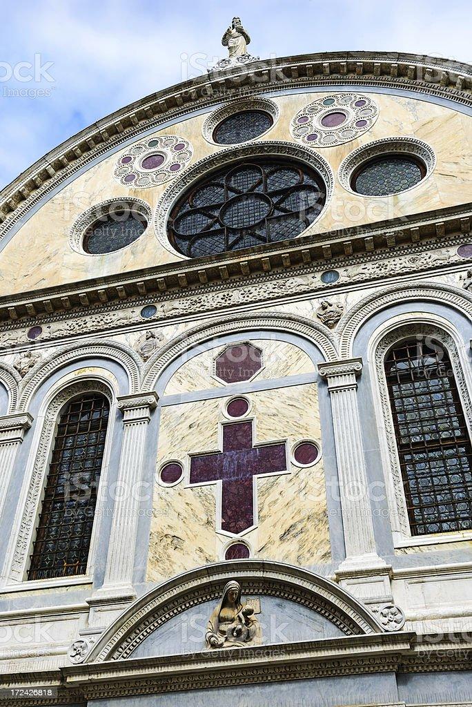 Saint Mary of the Miracle Church, Venice stock photo
