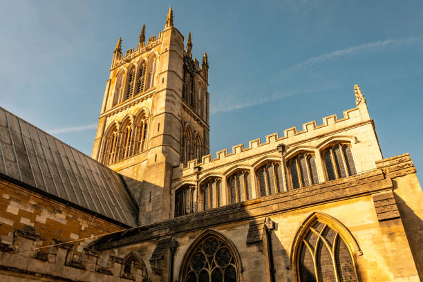 Saint Marys Church in Melton Mowbray in Leicestershire stock photo