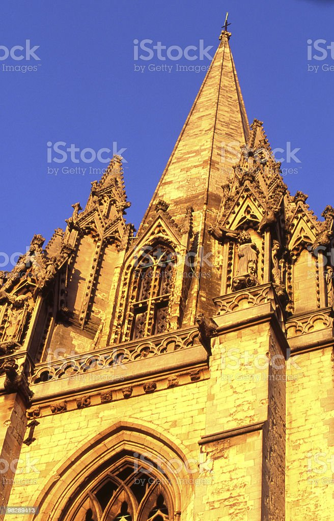 Saint Marys church tower. Oxford. England royalty-free stock photo