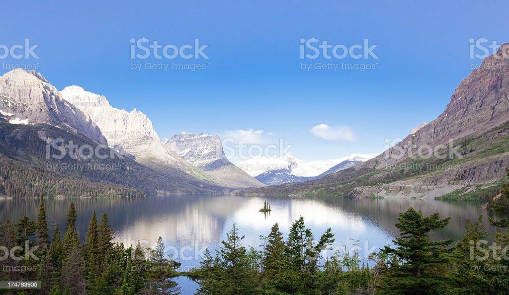 Saint Mary's Lake stock photo