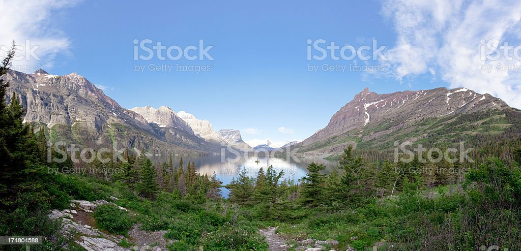 Saint Mary's Lake royalty-free stock photo