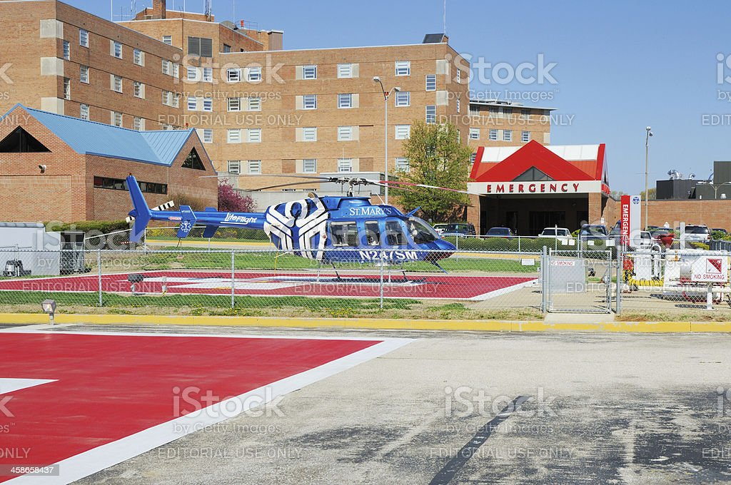 Saint Mary's Medical Center and Emergency Room in Evansville Indiana royalty-free stock photo