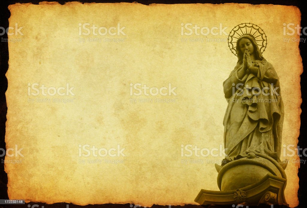 saint mary's old statue royalty-free stock photo