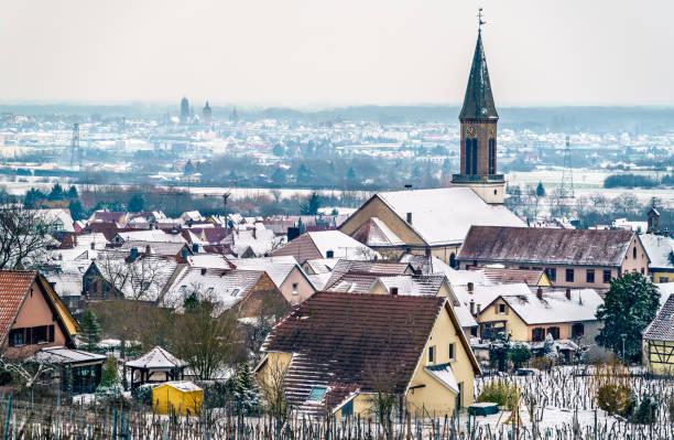 Saint Matrin Church in Kintzheim, a village in Bas-Rhin - Alsace, France - foto stock