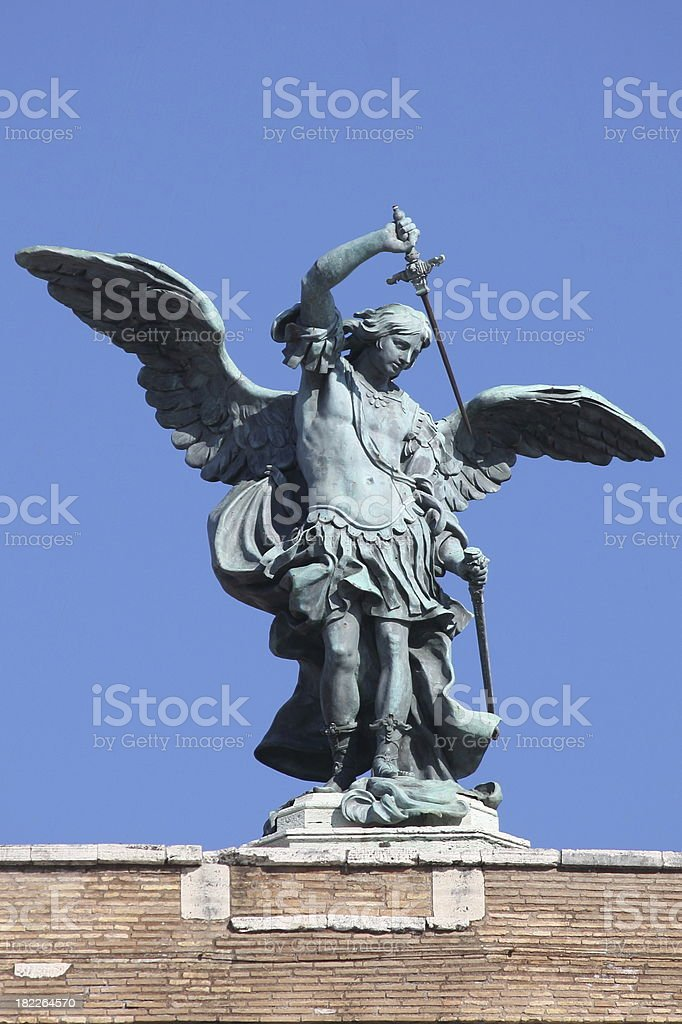 Saint Michael Archangel stock photo