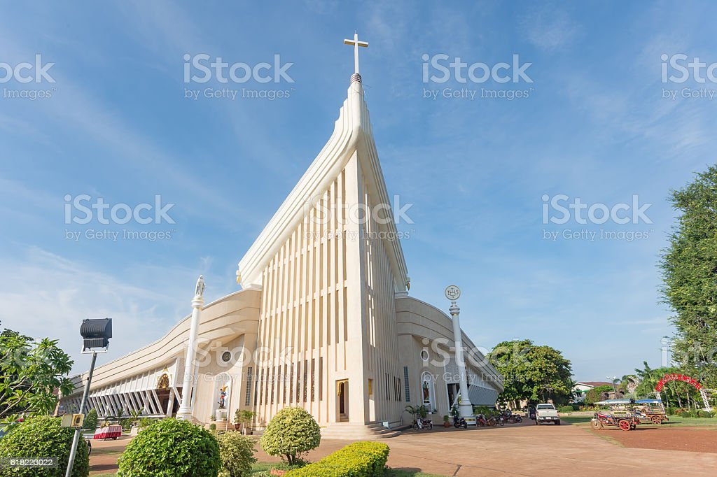 Saint Michael Cathedral, Ban Tharae  Thailand stock photo
