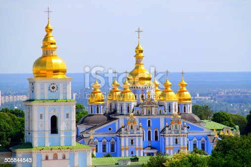 istock Saint Michael Cathedral golden domes - Kyiv, Ukraine 505844543