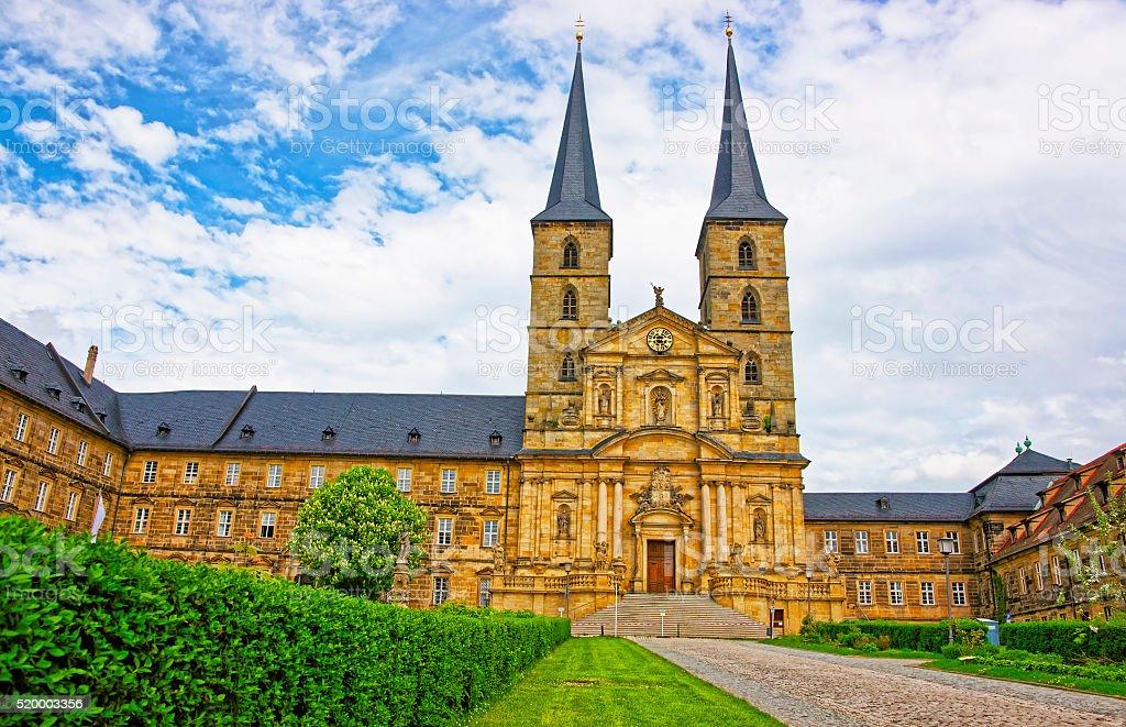 Saint Michael Church in Bamberg in Germany stock photo