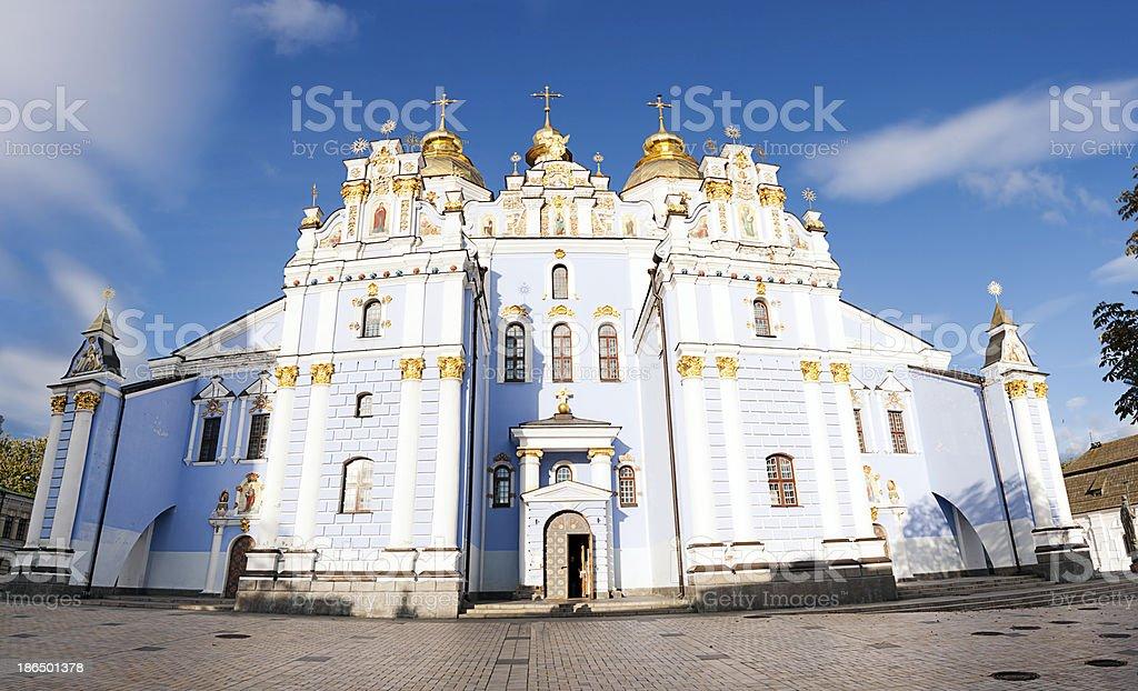 saint michael facade in Kiev royalty-free stock photo