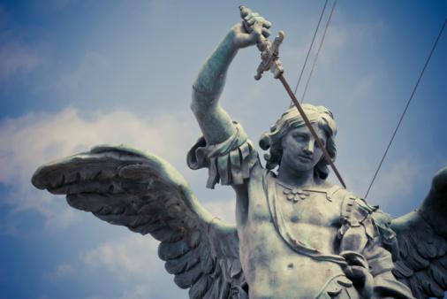 Saint Michael statue of Castel Sant`Angelo