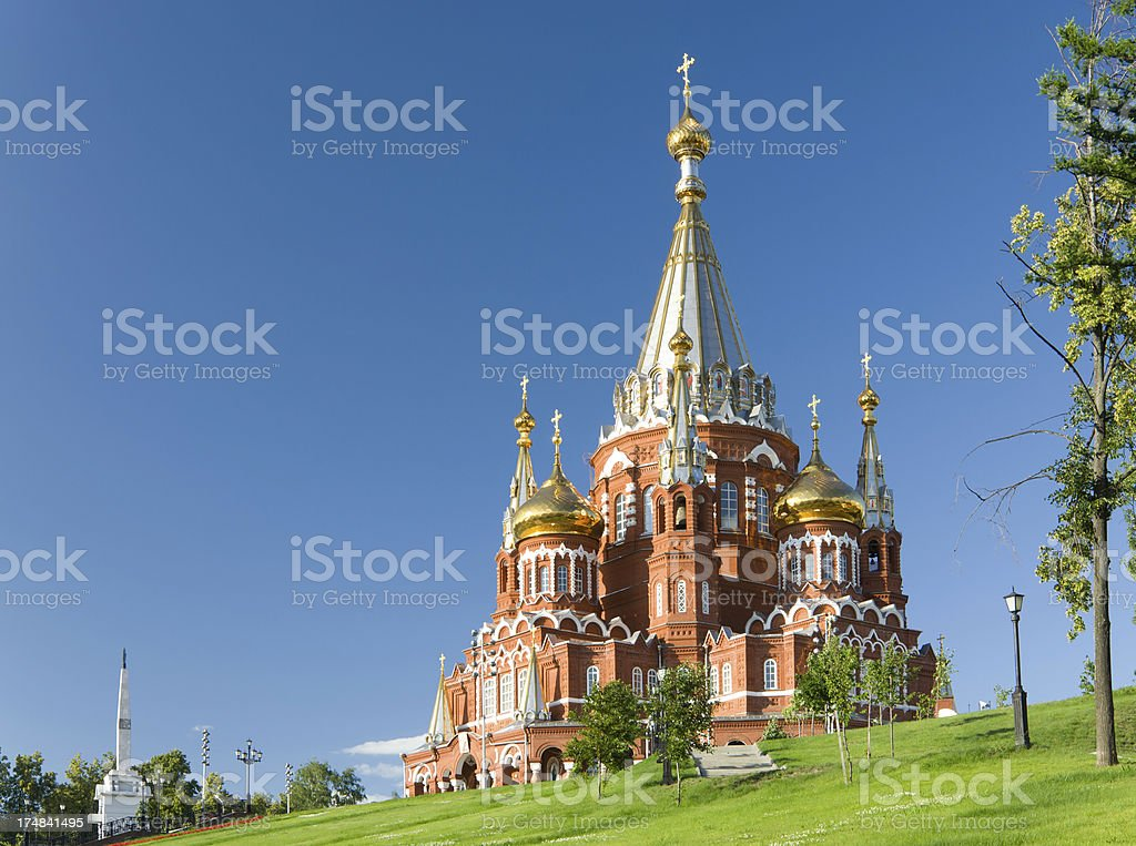 Saint Michael's Cathedral in Izhevsk royalty-free stock photo