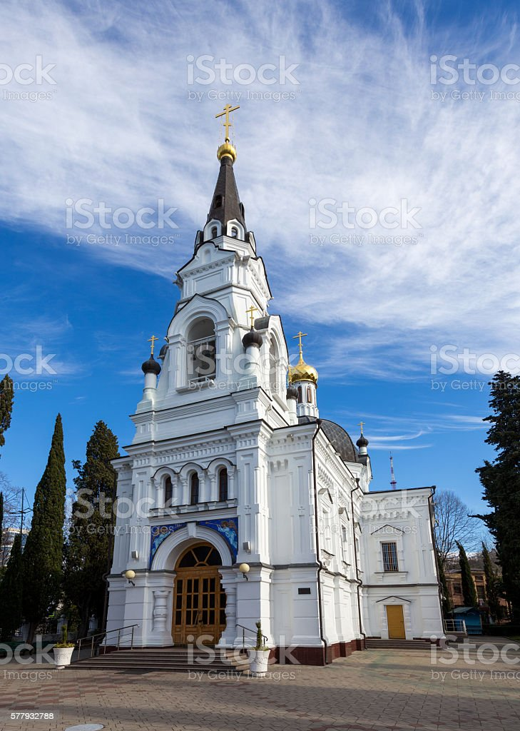 Saint Michael's Cathedral. Sochi. Russia stock photo