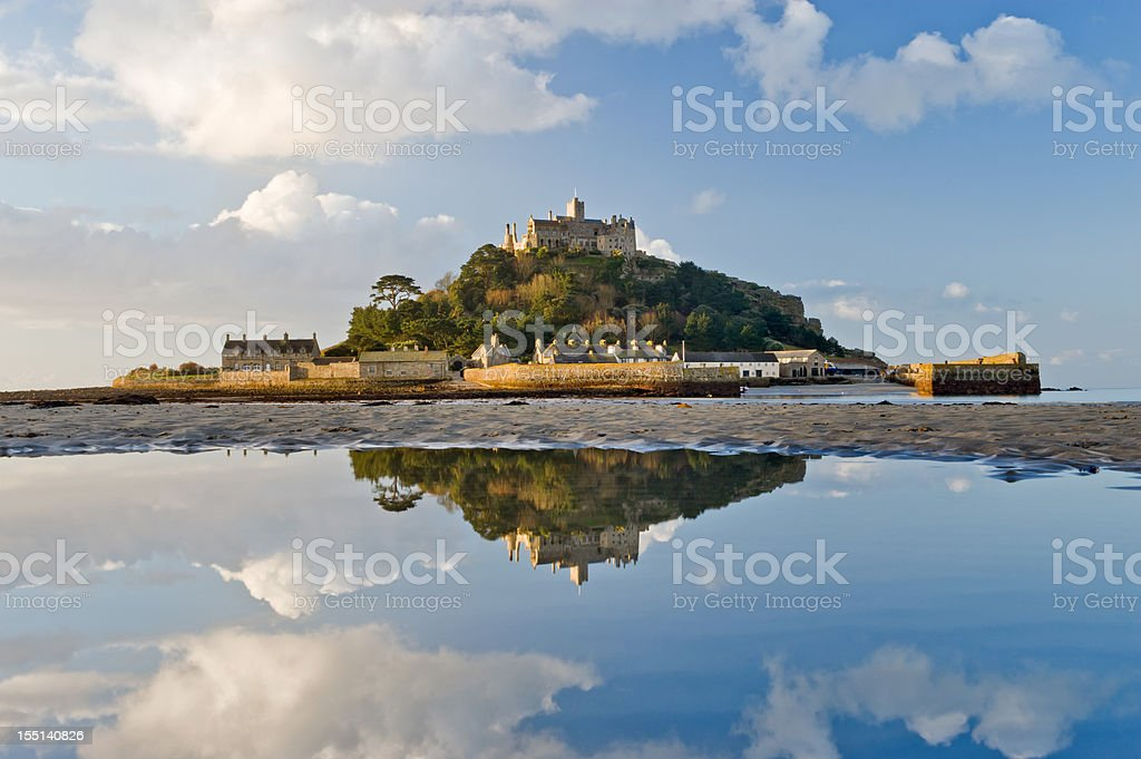Saint Michaels Mount Cornwall at sunrise stock photo
