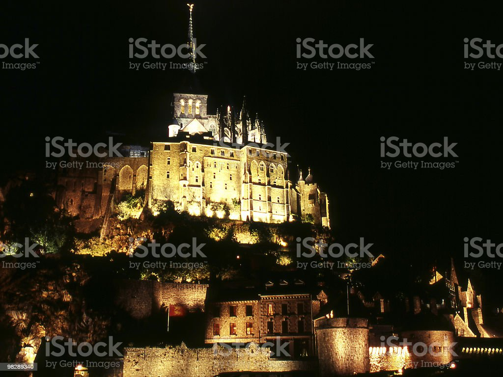 Saint Michaels Mount. France. Night. royalty-free stock photo