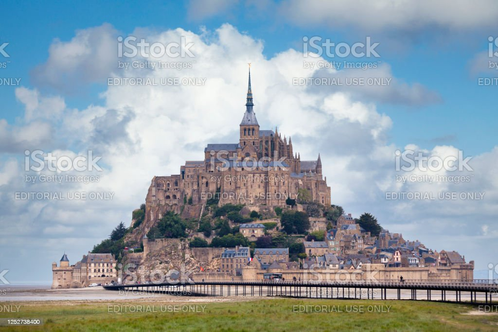 Saint Michael's Mount in Normandy - Royalty-free Abbey - Monastery Stock Photo