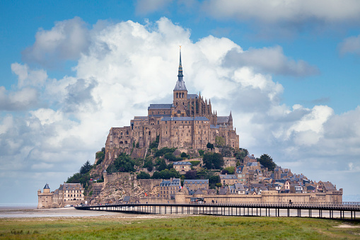 Saint Michaels Mount In Normandy Stock Photo - Download Image Now