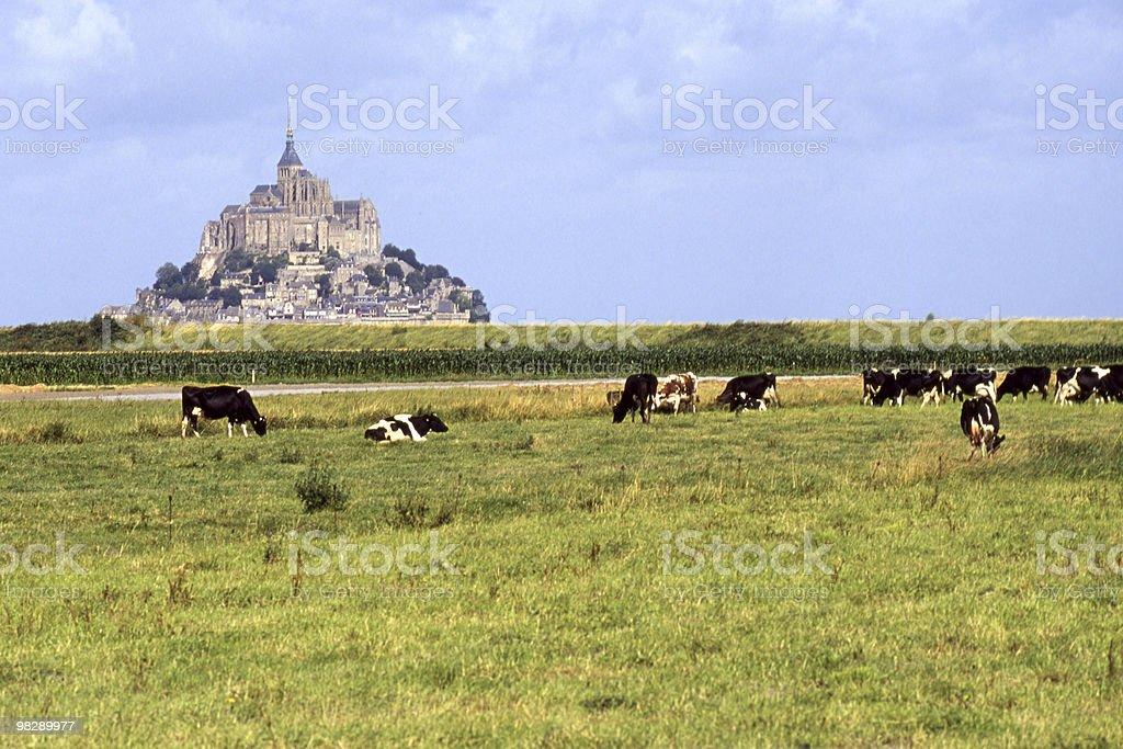 Saint Michaels Mount. Normandia. La Francia foto stock royalty-free
