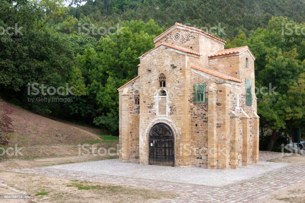 Saint Miguel de Lillo church, Asturies, Spain stock photo