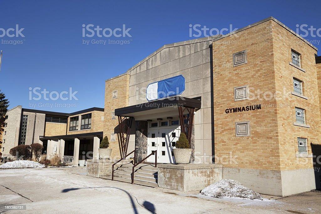 Saint Monica Academy Gymnasium in Norwood Park, Chicago royalty-free stock photo