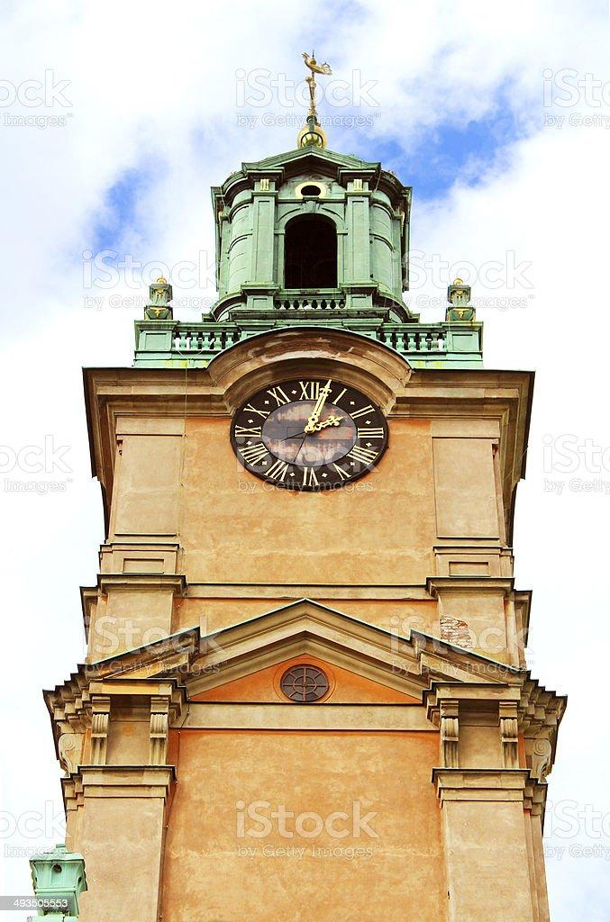 a367c304f3dc Св. Николая (Storkyrkan) Башня колокола, Стокгольм, Швеция Стоковые фото  Стоковая фотография