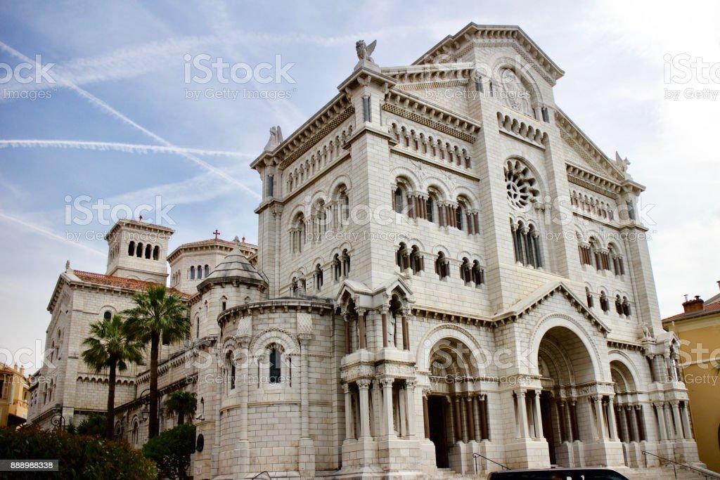 Saint Nicholas Cathedral in Monaco stock photo