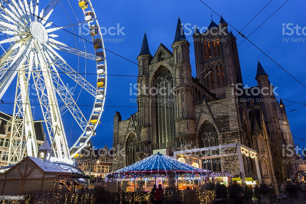 Saint Nicholas' Church in Ghent in Belgium stock photo