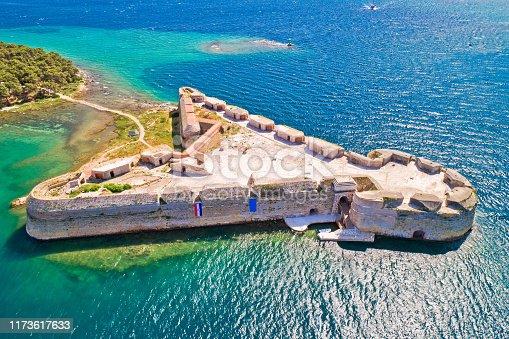 istock Saint Nikola fortress overlooking Sibenik bay entrance 1173617633