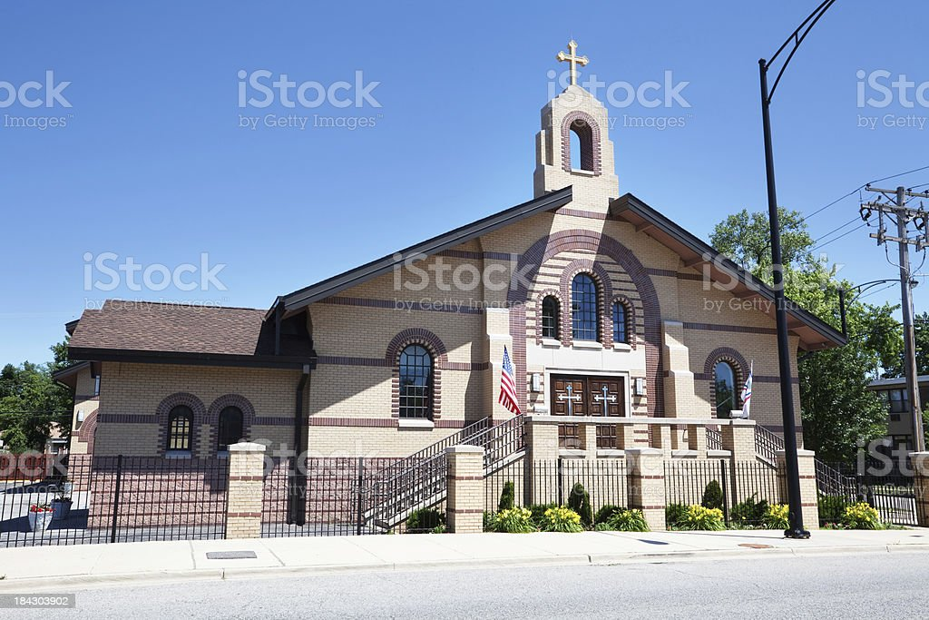 Saint Odisho Church of the East in Forest Glen, Chicago royalty-free stock photo