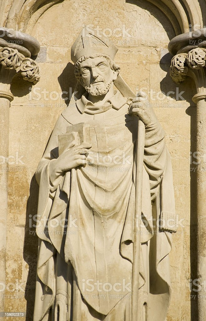 Saint Osmund Statue, Salisbury Cathedral stock photo