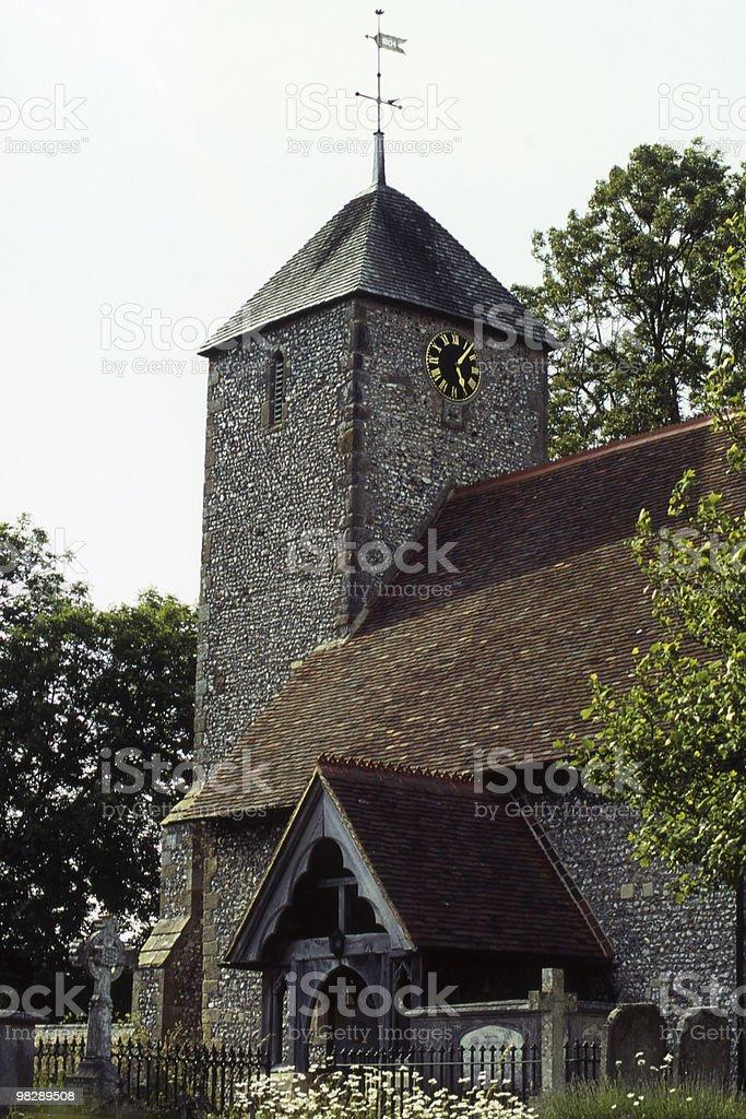 Saint Pancras Church, Kingston, East Sussex, Inghilterra foto stock royalty-free