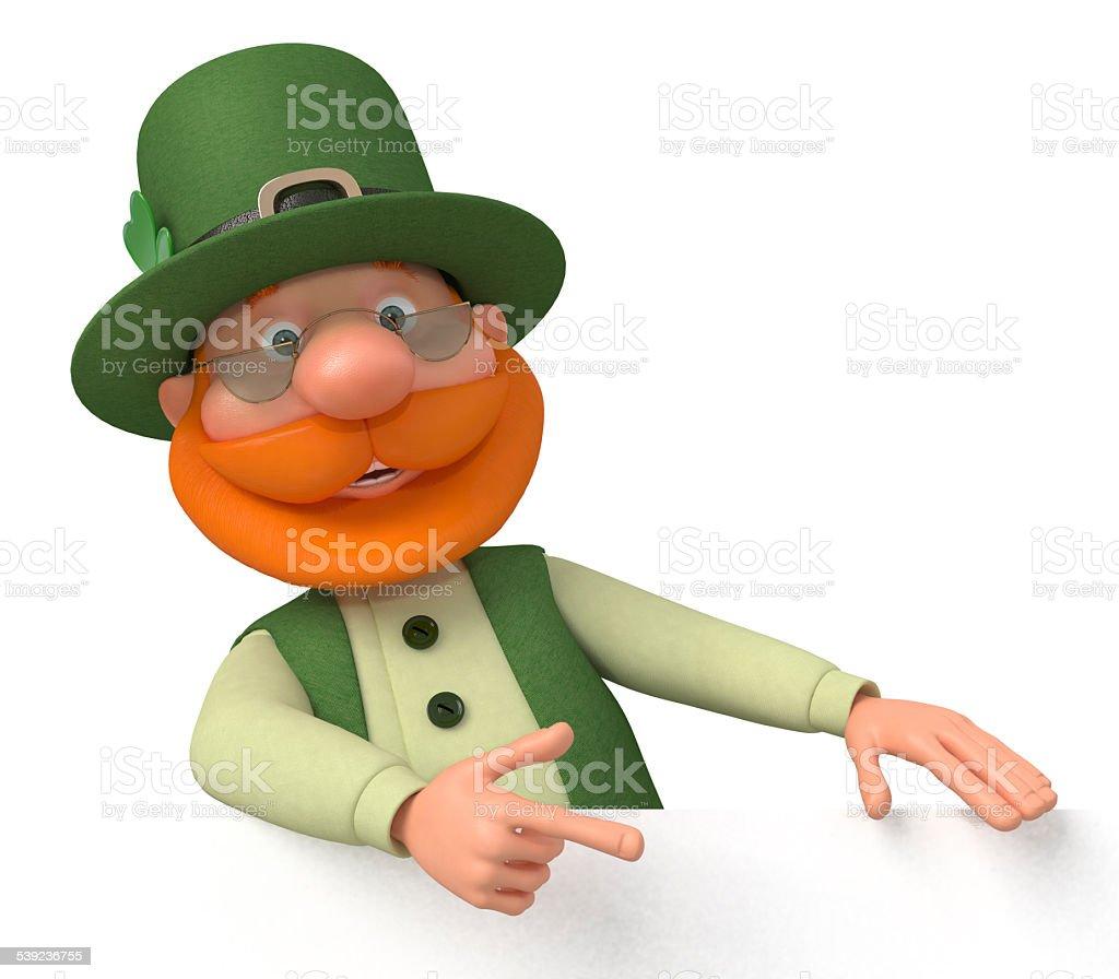 Saint Patrick con valla publicitaria foto de stock libre de derechos