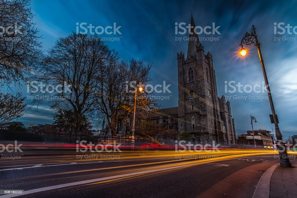 Saint Patrick's Cathedral, Dublin Ireland stock photo