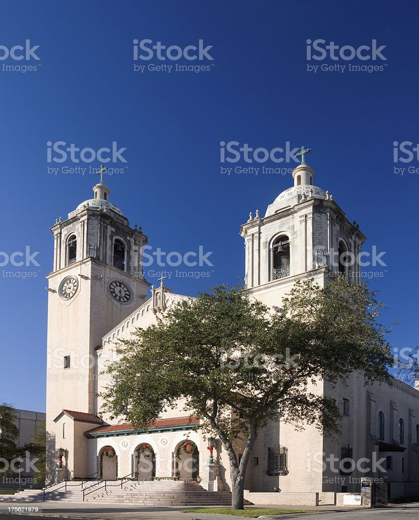 Saint Patrick's Cathedral in Corpus Christi, TX royalty-free stock photo