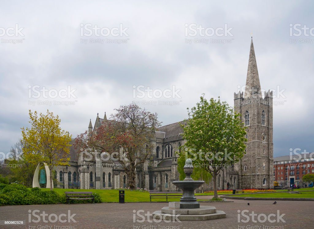 Saint Patrick's Cathedral in Dublin, Ireland stock photo