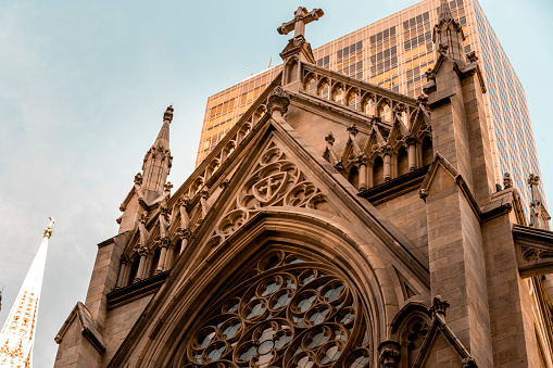 The architecture of Saint Patrick's cathedral in New York.