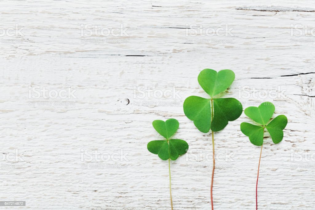 St. Patricks Day Hintergrund. Flach zu legen. Vintage-Stil. – Foto