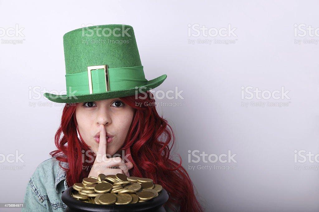 Saint Patrick's Day Girl royalty-free stock photo