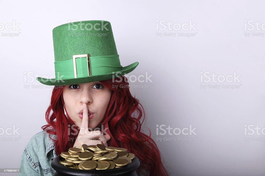 Saint Patrick's Day Girl stock photo