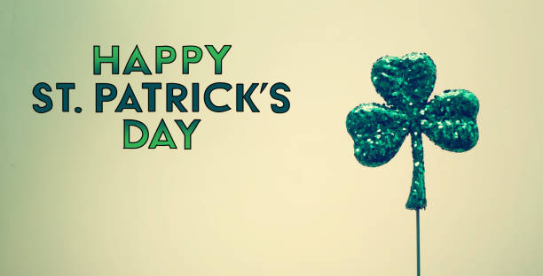 saint patricks day ornament - happy st. patricks day stock photos and pictures