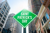 """Road sign quoting """"'Saint Patrick's day"""""""
