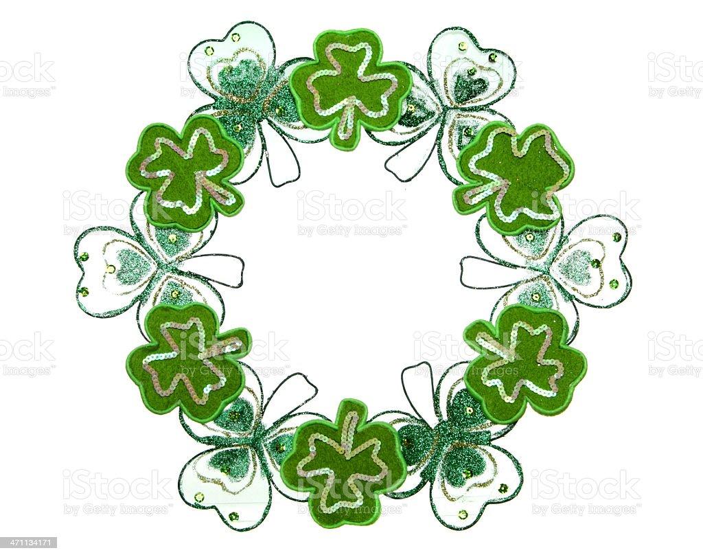 Saint Patrick's Day Wreath royalty-free stock photo