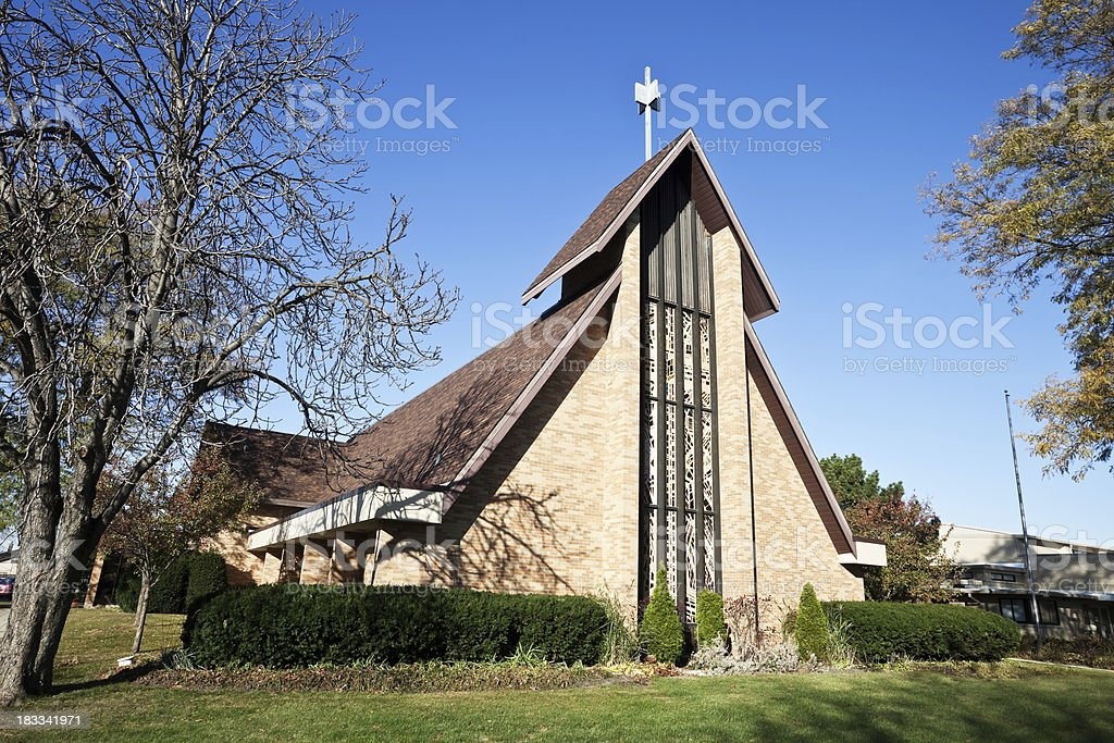 Saint Paul Evangelic Church in Norwood Park, Chicago royalty-free stock photo
