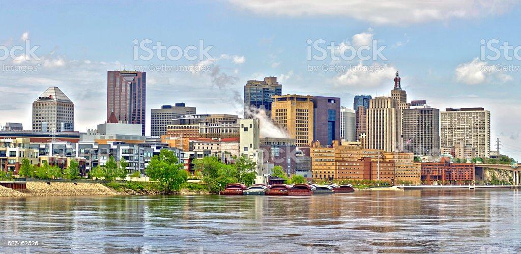 Saint Paul skyline in HDR stock photo