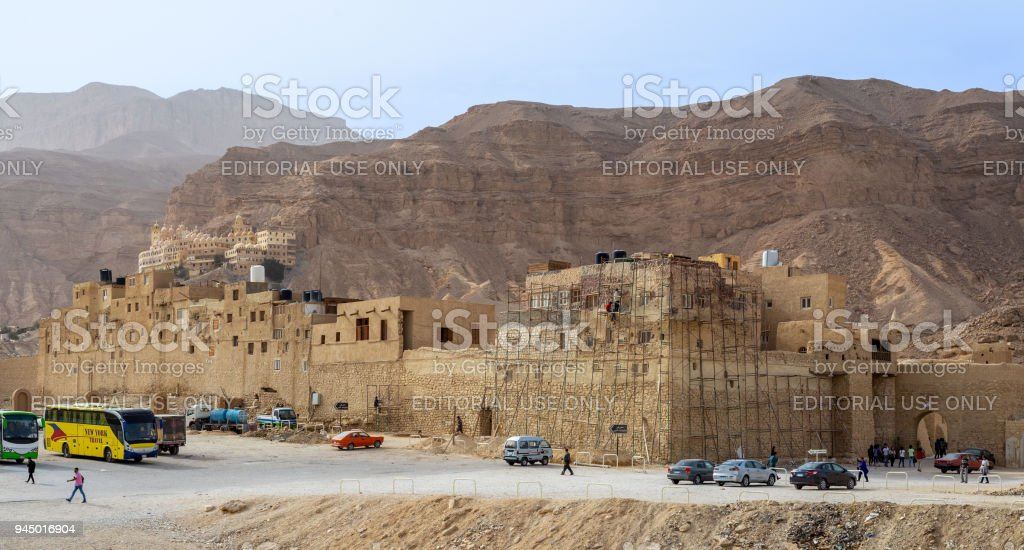 Saint Paul the Anchorite (Monastery of the Tigers), dates to the fifth century AD and located in the Eastern Desert, near the Red Sea mountains, Egypt stock photo