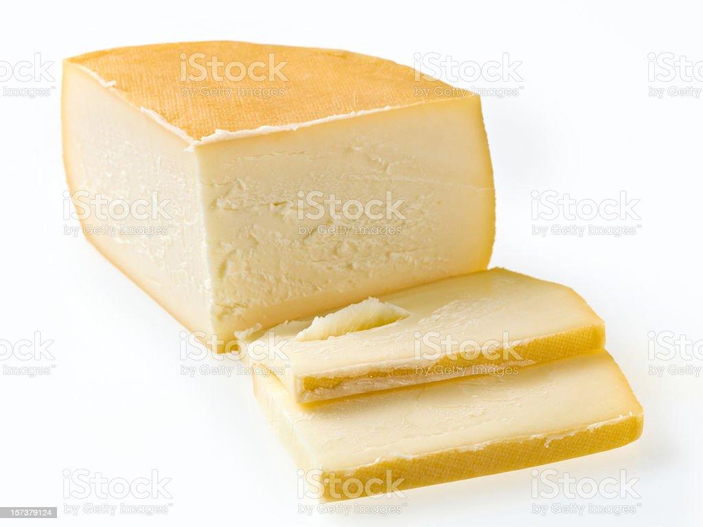 Saint Paulin Cheese royalty-free stock photo