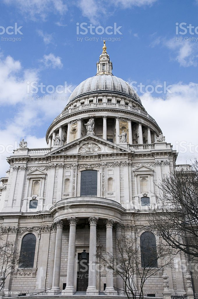 Saint Paul's Cathedral Dome royalty-free stock photo