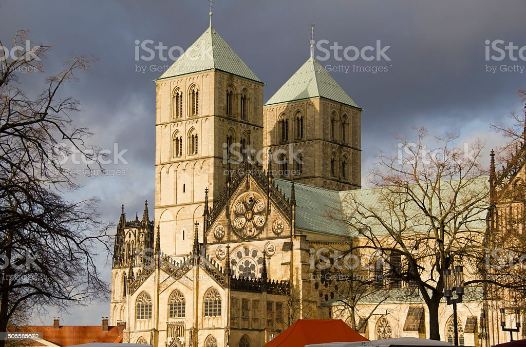 Saint Paul's Dom in Munster, Germany stock photo