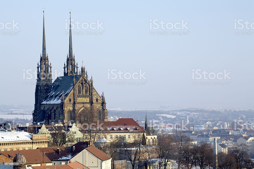 Saint Peter and Paul Cathedral, Brno stock photo