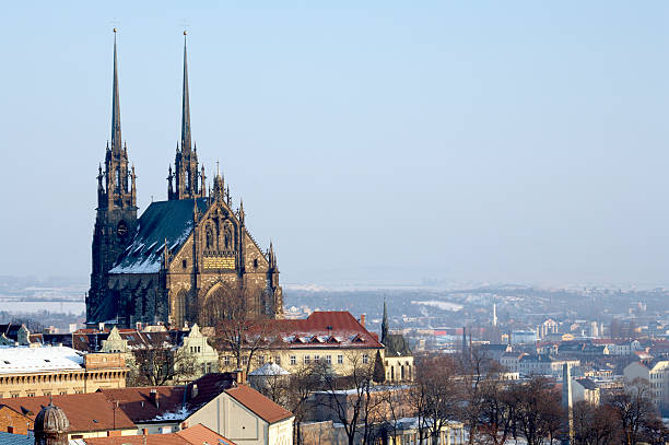 Saint Peter and Paul Cathedral, Brno  brno stock pictures, royalty-free photos & images